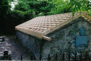 Burial Vault, Roof restoration 2014