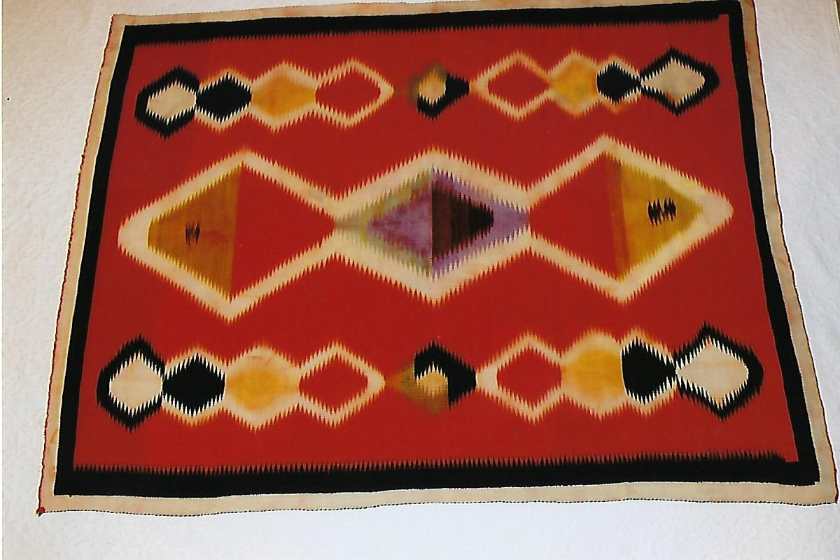 Navajo weaving, ca 1900